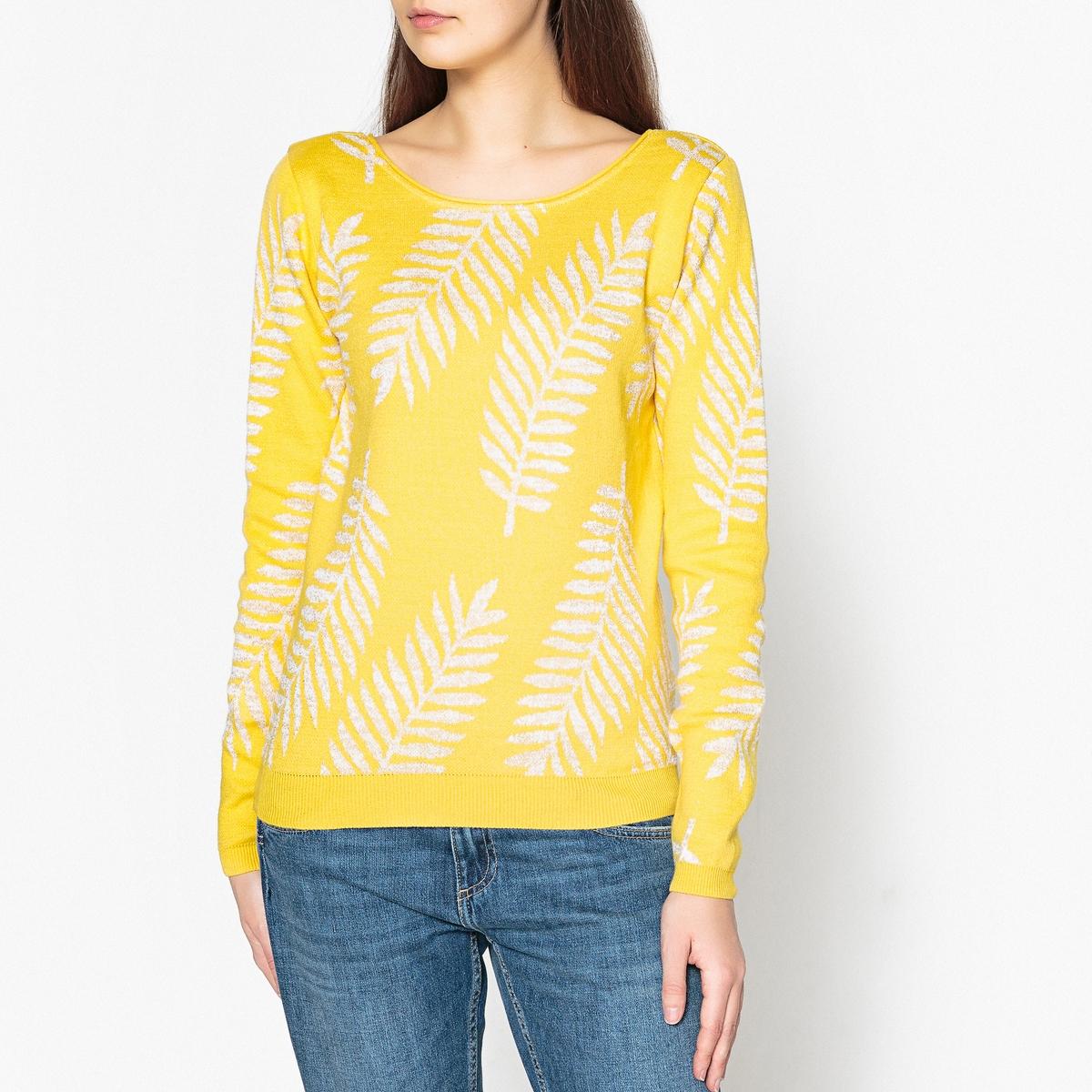 Пуловер из тонкого жаккардового трикотажа PALME D'OR
