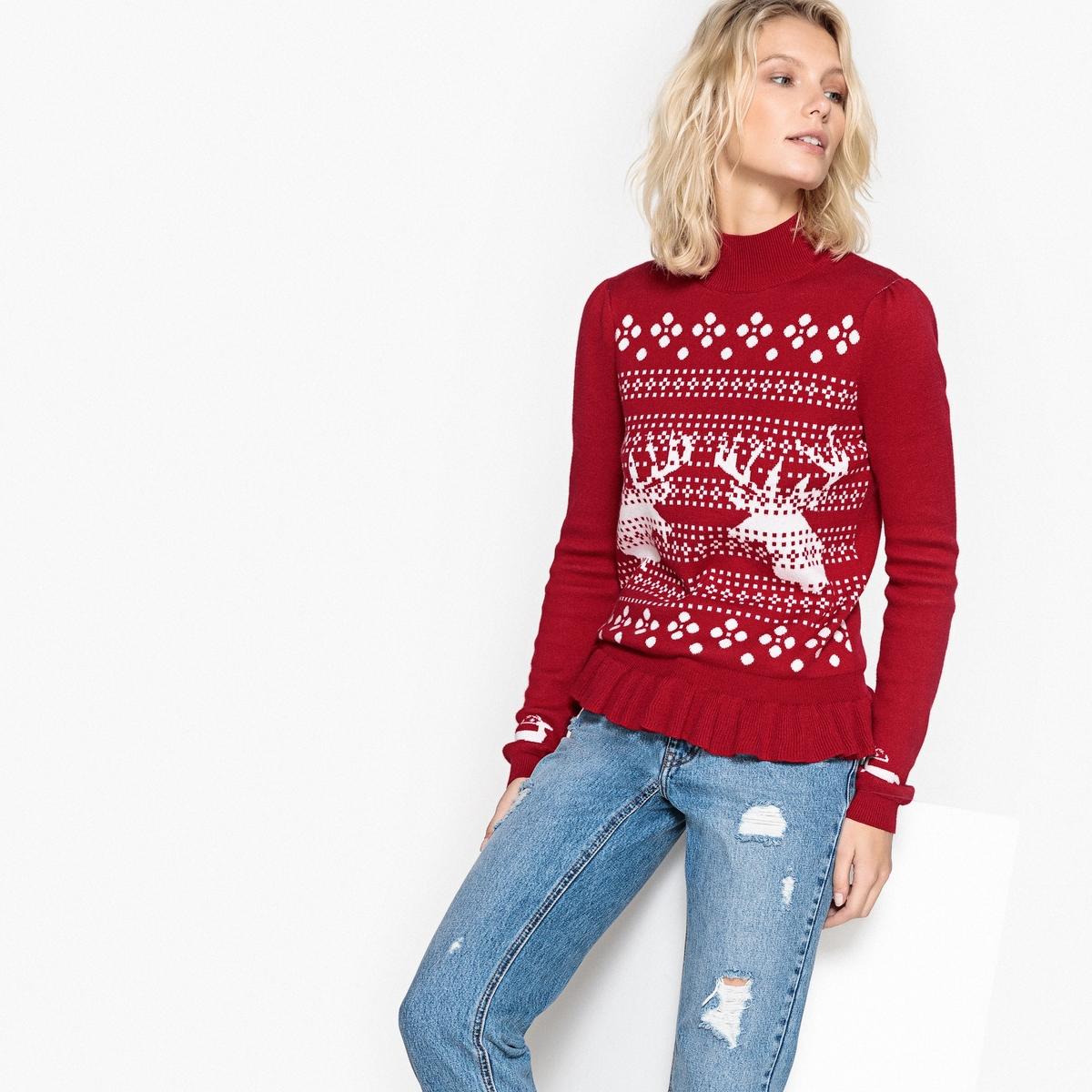 Пуловер с новогодним мотивом