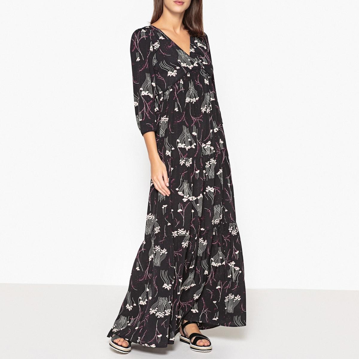 """Платье длинное с рисунком и V-образным вырезом KINA ñ€ñƒð±ð°ñˆðºð° ð¿ð¾ð ð¾ printio ñ""""ðº ð°ð²ð°ð½ð³ð°ñ€ð´ ðºñƒñ€ñðº"""
