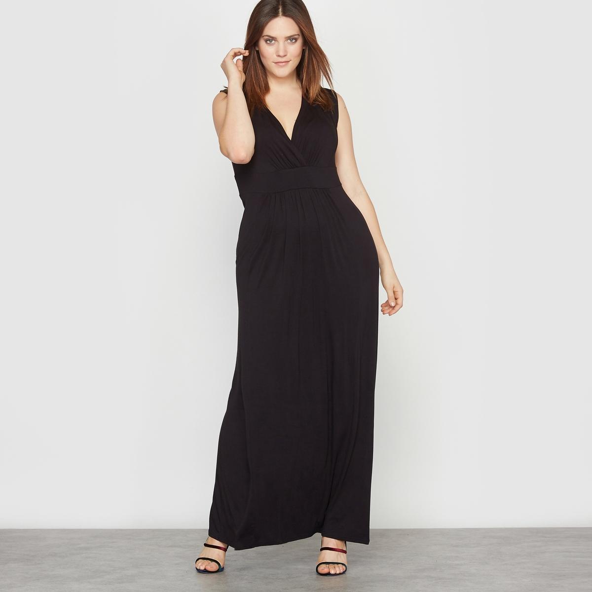 Платье длинное из джерси