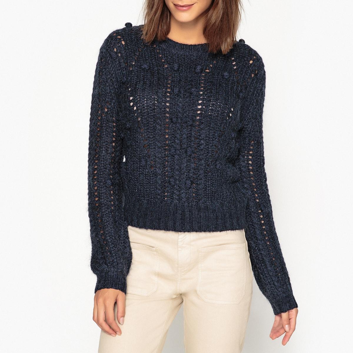 Пуловер La Redoute С круглым вырезом из трикотажа MARTI MA M синий marti pellow york