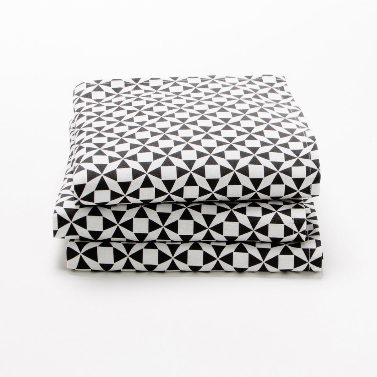 3 столовых полотенца, CisareХарактеристики столового полотенца :70% хлопка, 30% полиэстераРазмер  :45 x 45 см..УходМашинная стирка при 60 °С.Возможна машинная сушка.<br><br>Цвет: антрацит/шафран