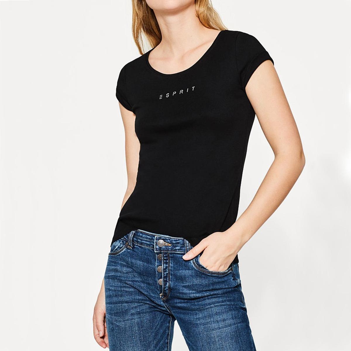Camiseta lisa con cuello redondo y manga corta