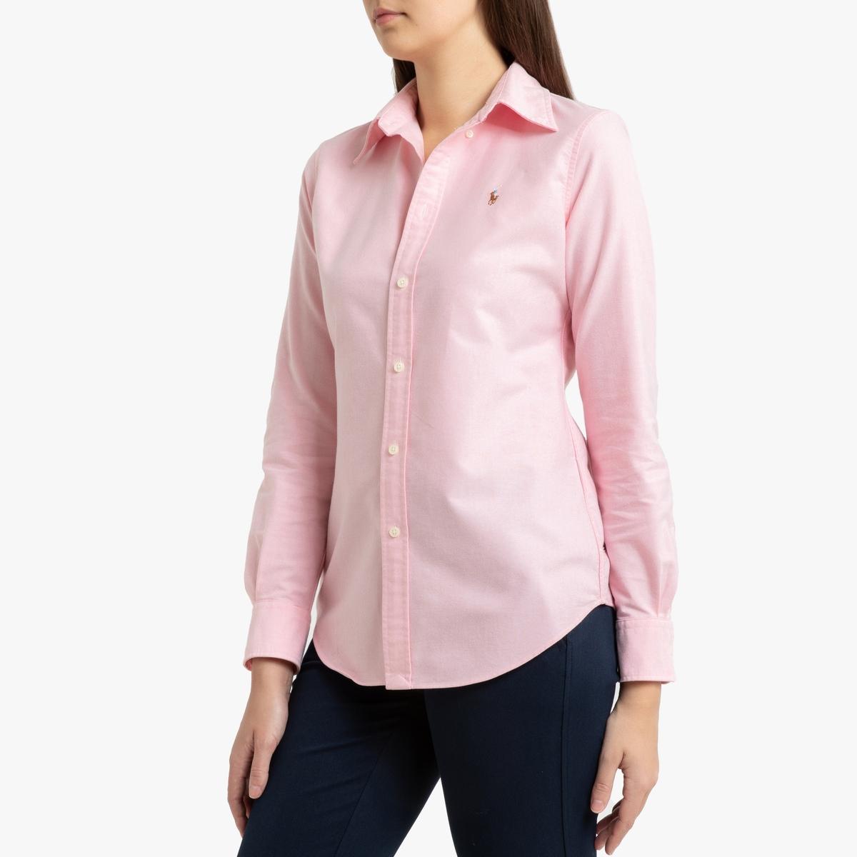 Рубашка La Redoute Из ткани Oxford с длинными рукавами M розовый шаньшань firs бизнес случайный сплошной цвет с длинными рукавами футболка поло рубашка мужской ddx606c 10 розовый 180