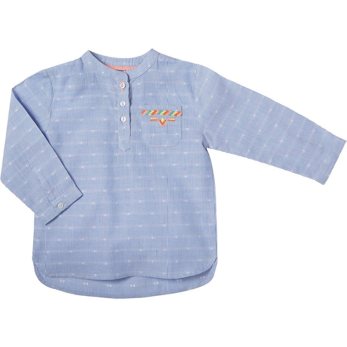 Chemise kurta  Malo bleu et blanc