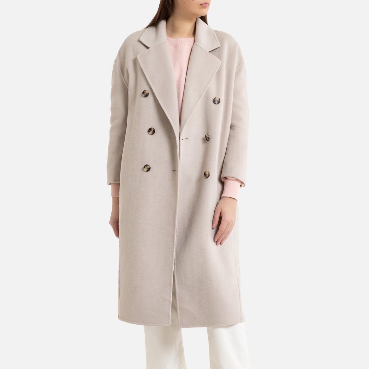 Пальто La Redoute С двубортной застежкой DADOULOVE M серый блейзер la redoute прямой с двубортной застежкой volberte l зеленый