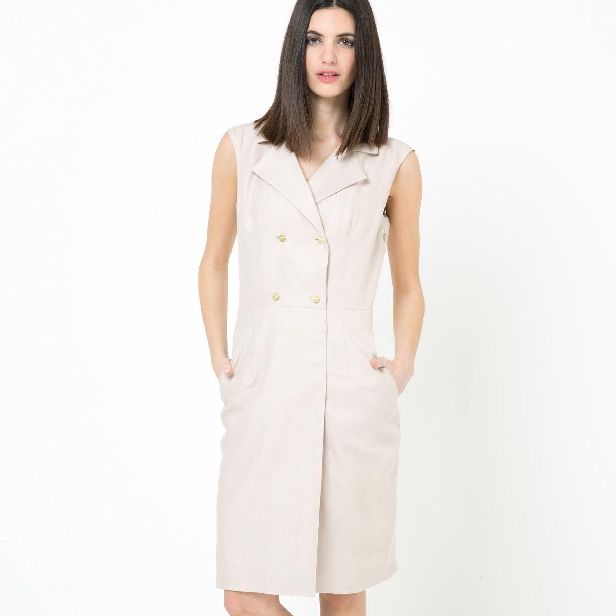 Платье из 100% льна платье из льна елецкое