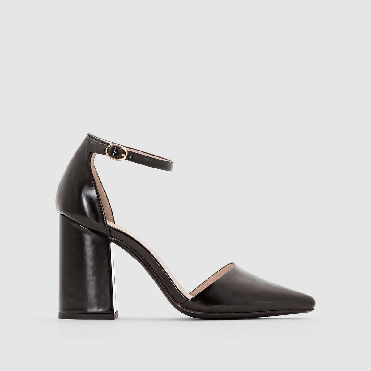 Туфли с ремешком на пряжке от La Redoute Collections