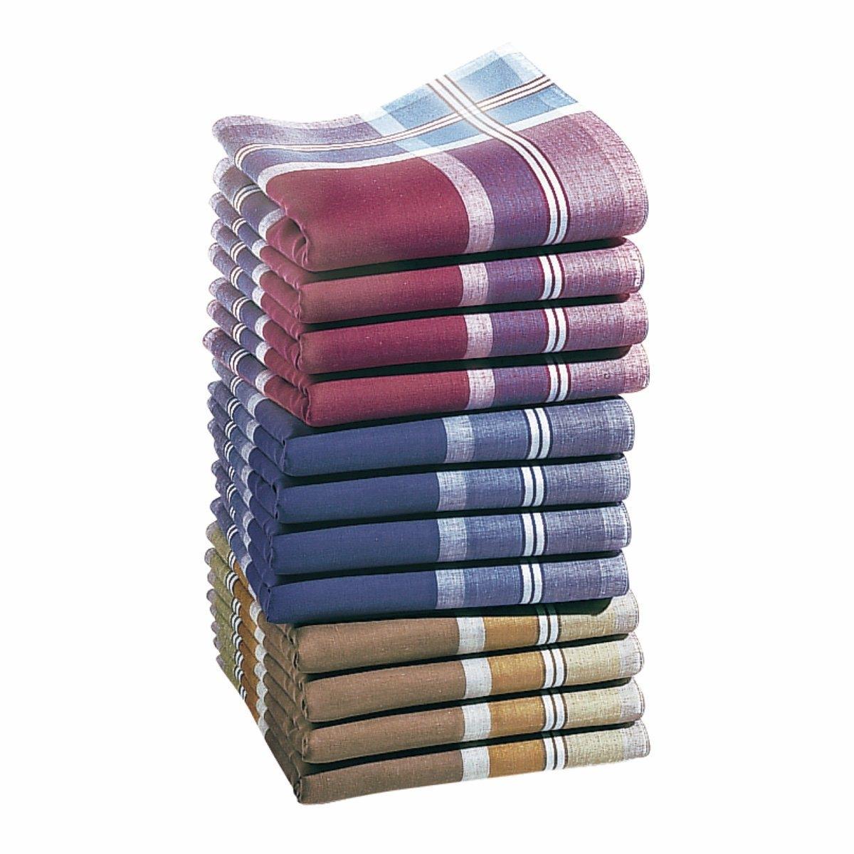 12 носовых платков12 носовых платков из 100% хлопка. Египетский хлопок отличается длинными волокнами, мягкостью и тонкостью. Цветной фон, полоски по краям. Стирка при 60°. Размер: 41 х 41 см.<br><br>Цвет: белый/красный/серо-коричневый