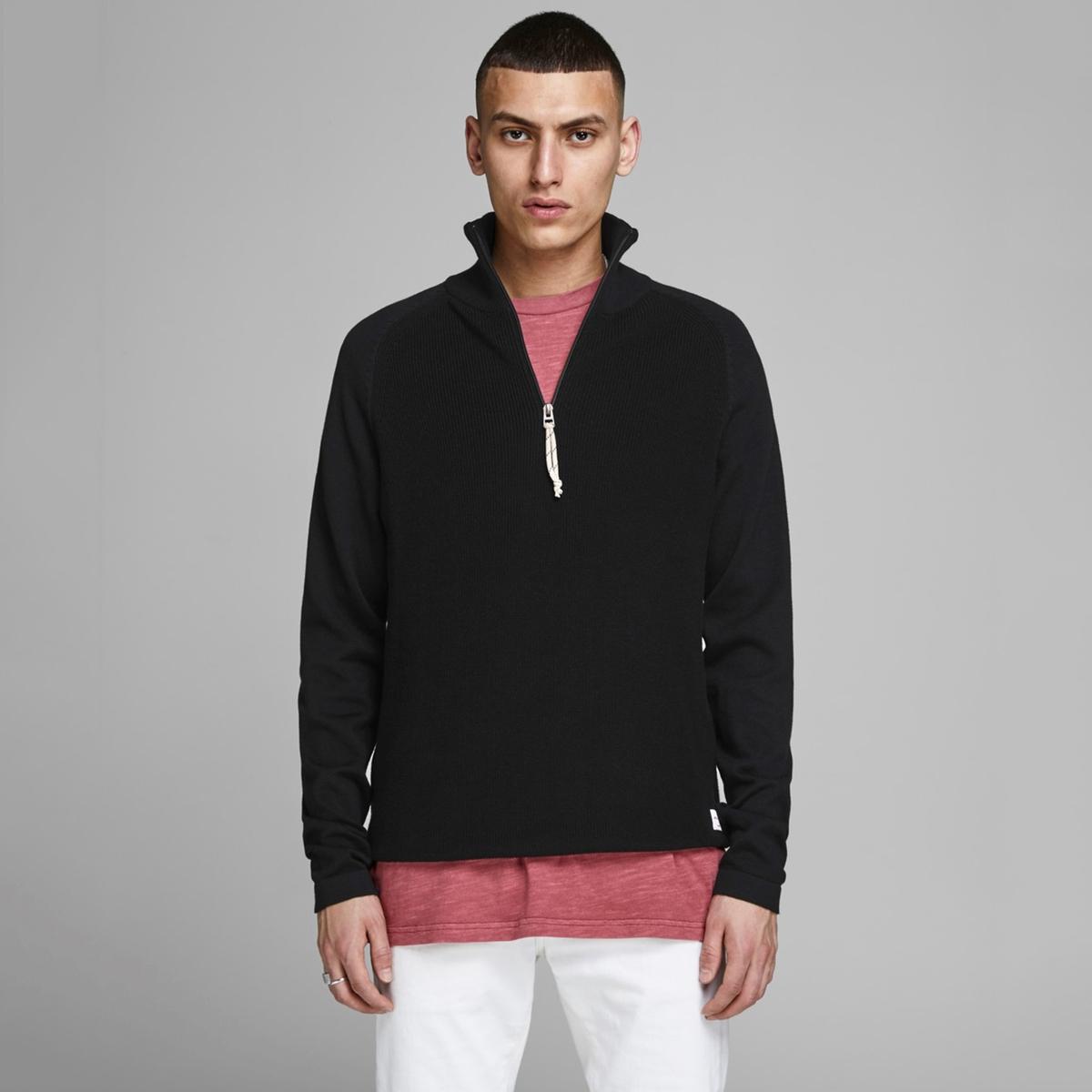 Пуловер La Redoute С воротником-стойкой на молнии Jorklover XXL черный