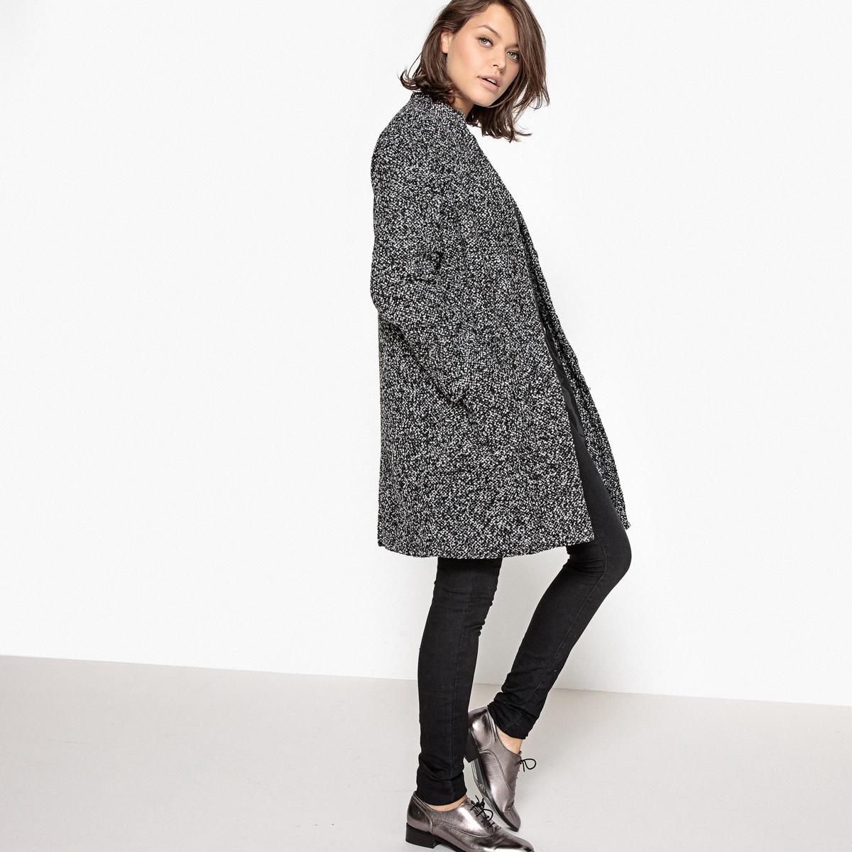 Пальто из меланжевой ткани