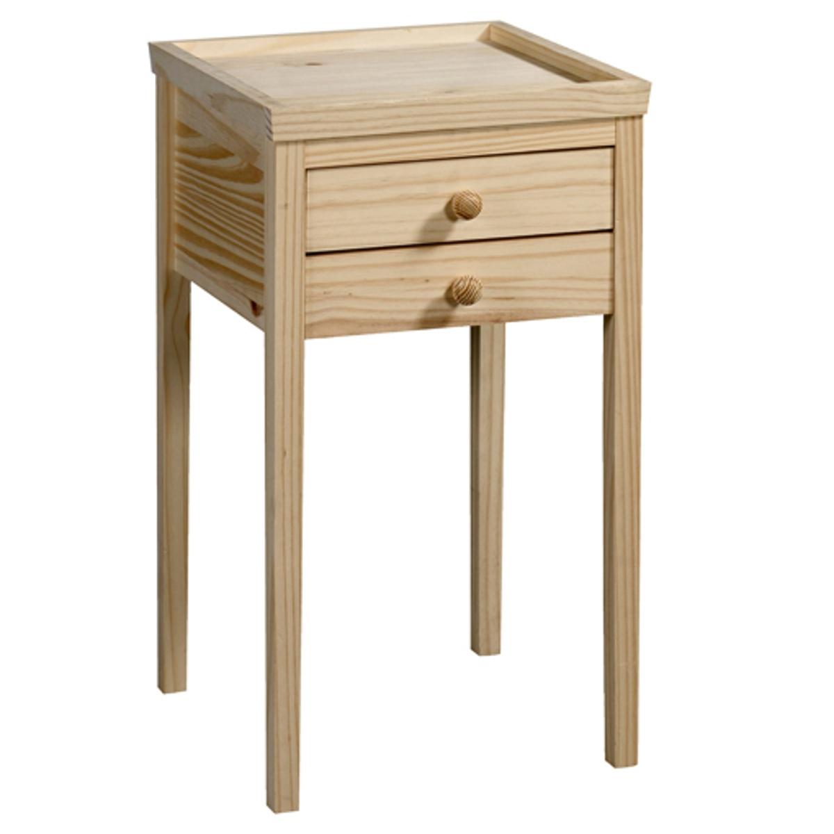 Прикроватный столик Alex, 3 варианта отделкиХарактеристики :- Из массива сосны без обработки под покраску, покрытие нитролаком белого или светло-серого цвета.- Мебель под окраску. Для оптимального результата рекомендуем сначала покрыть нашу мебель грунтовкой, а после нанести 1-2 слоя краски. Описание :- 2 ящика- Данная модель легко собирается, инструкция по сборке прилагается. Размеры  :- Шир. 40 x Выс. 70 x Гл. 40 см.- Размеры ящика : Шир. 30 x Выс. 5,5 x Гл. 27,5 см.- Вес : 6,9 кгРазмеры и вес упаковки :- Шир. 97 x Выс. 9,5 x Гл. 46 см, 8,5 кг<br><br>Цвет: под покраску