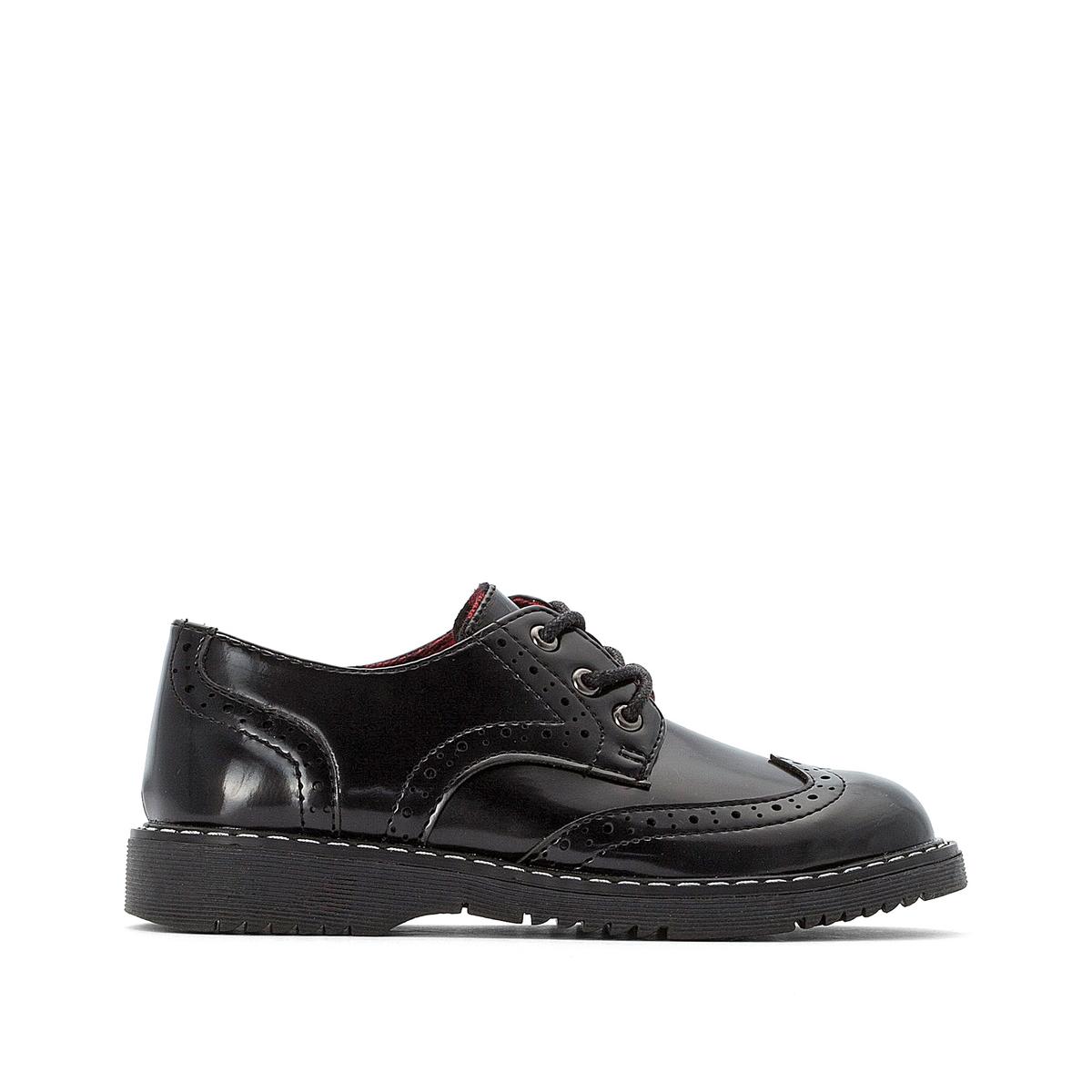 цена Ботинки-дерби La Redoute На шнуровке - 26 черный онлайн в 2017 году