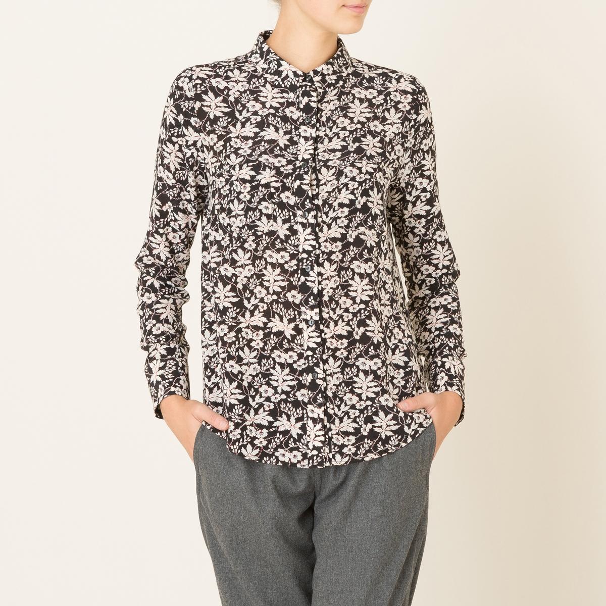 Рубашка из шелкаСостав и описание   Материал : 100 % шелка    Марка : STELLA FOREST<br><br>Цвет: черный<br>Размер: 40 (FR) - 46 (RUS)