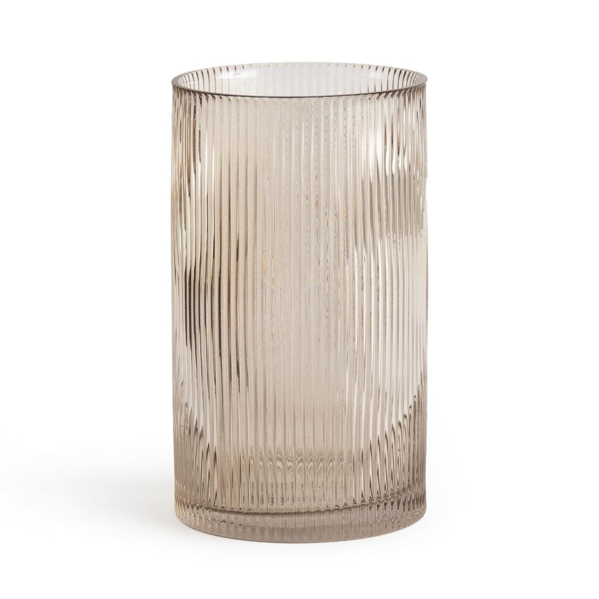 Ваза La Redoute Из стекла прямая Afa единый размер серый столик la redoute maden единый размер серый