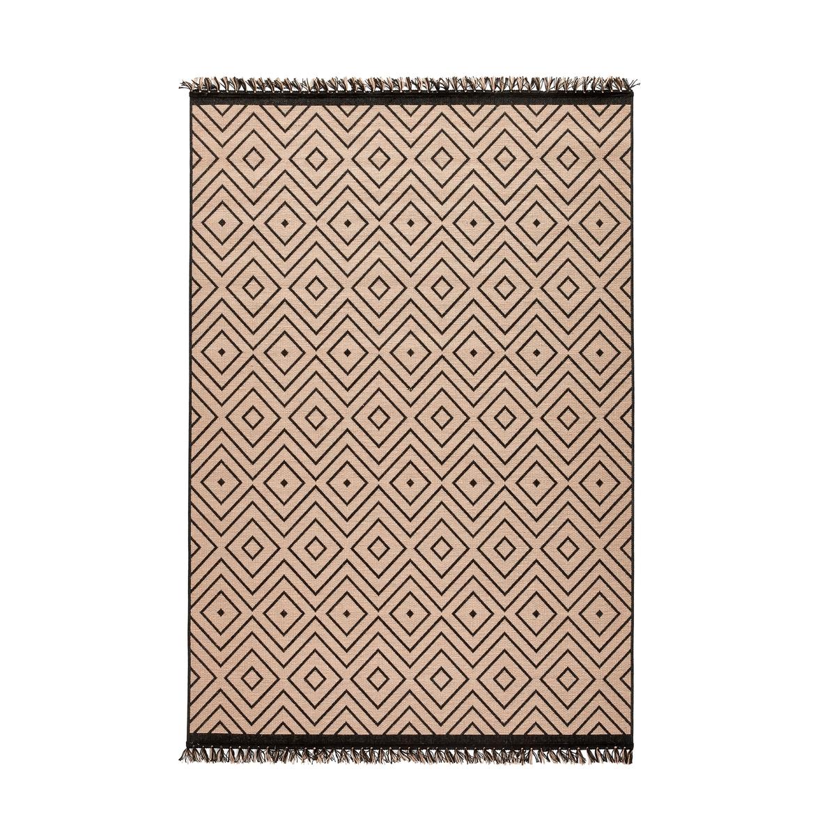 Ковер La Redoute С рисунком из ромбов KYZAC 120 x 170 см бежевый ковер la redoute горизонтального плетения с рисунком цементная плитка iswik 120 x 170 см бежевый