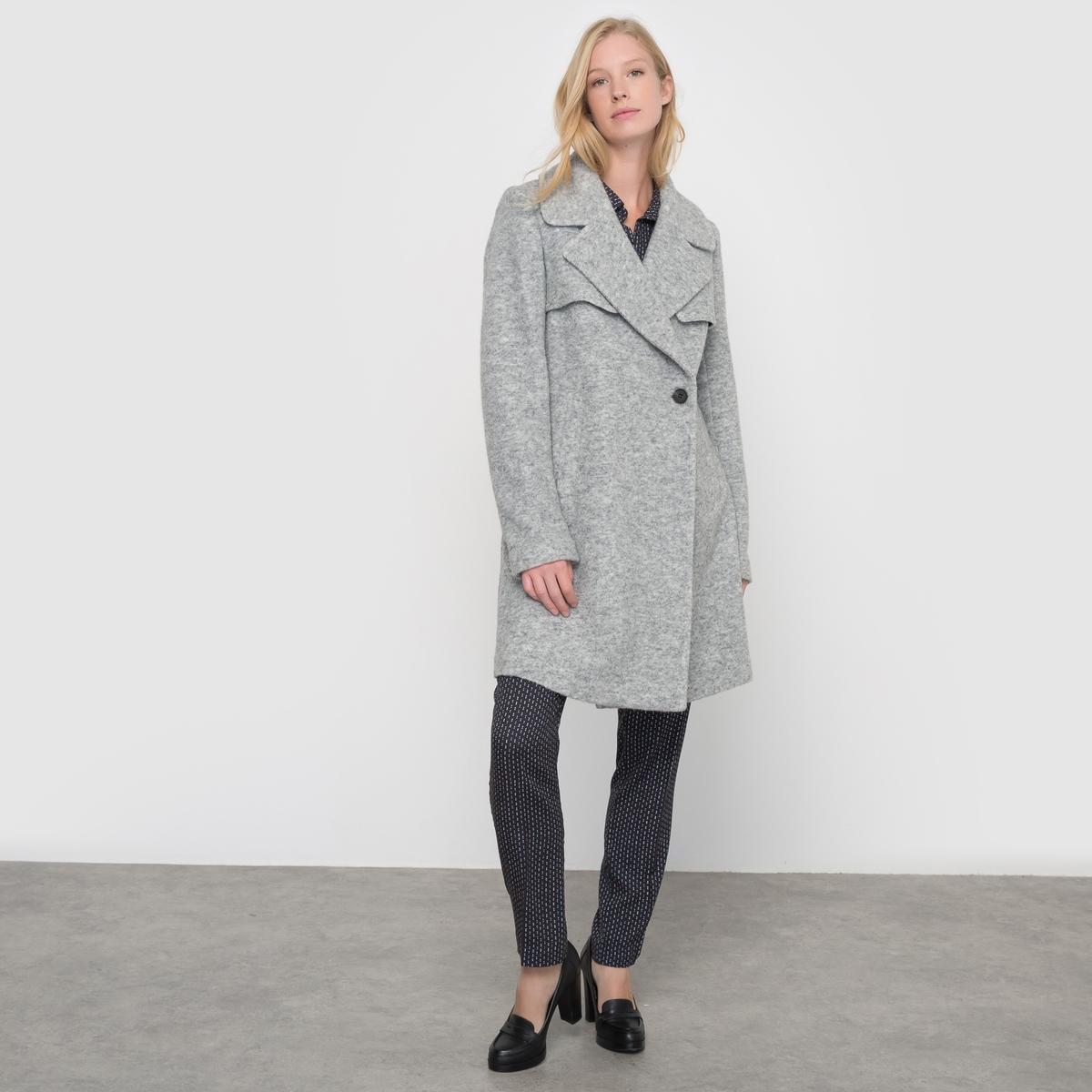 Пальто с пиджачным воротником