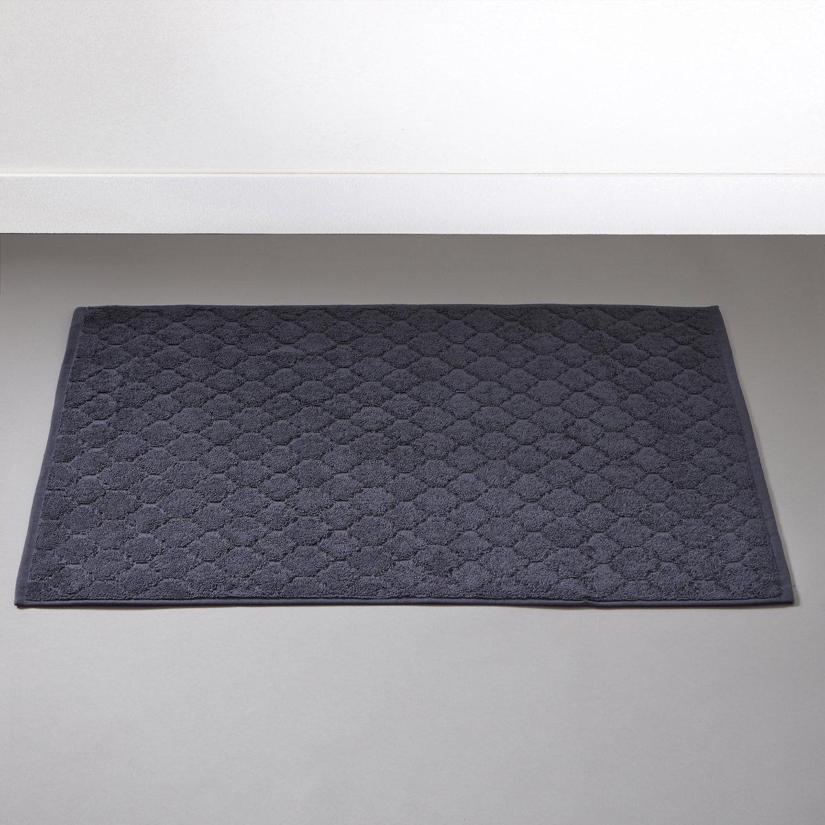 Коврик для ванной АЛЖЮСТРЕЛЬЖаккардовый коврик для ванной, 100% хлопка, 700 г/м?, выстриженные мотивы в восточном стиле. Бахрома по краю.Мягкий, межный и отлично впитывающий махровый материал, стирка при 60°.РАзмеры коврика для ванной : 50 x 70 см.<br><br>Цвет: розовое дерево,серо-синий<br>Размер: 50 x 70  см.50 x 70  см