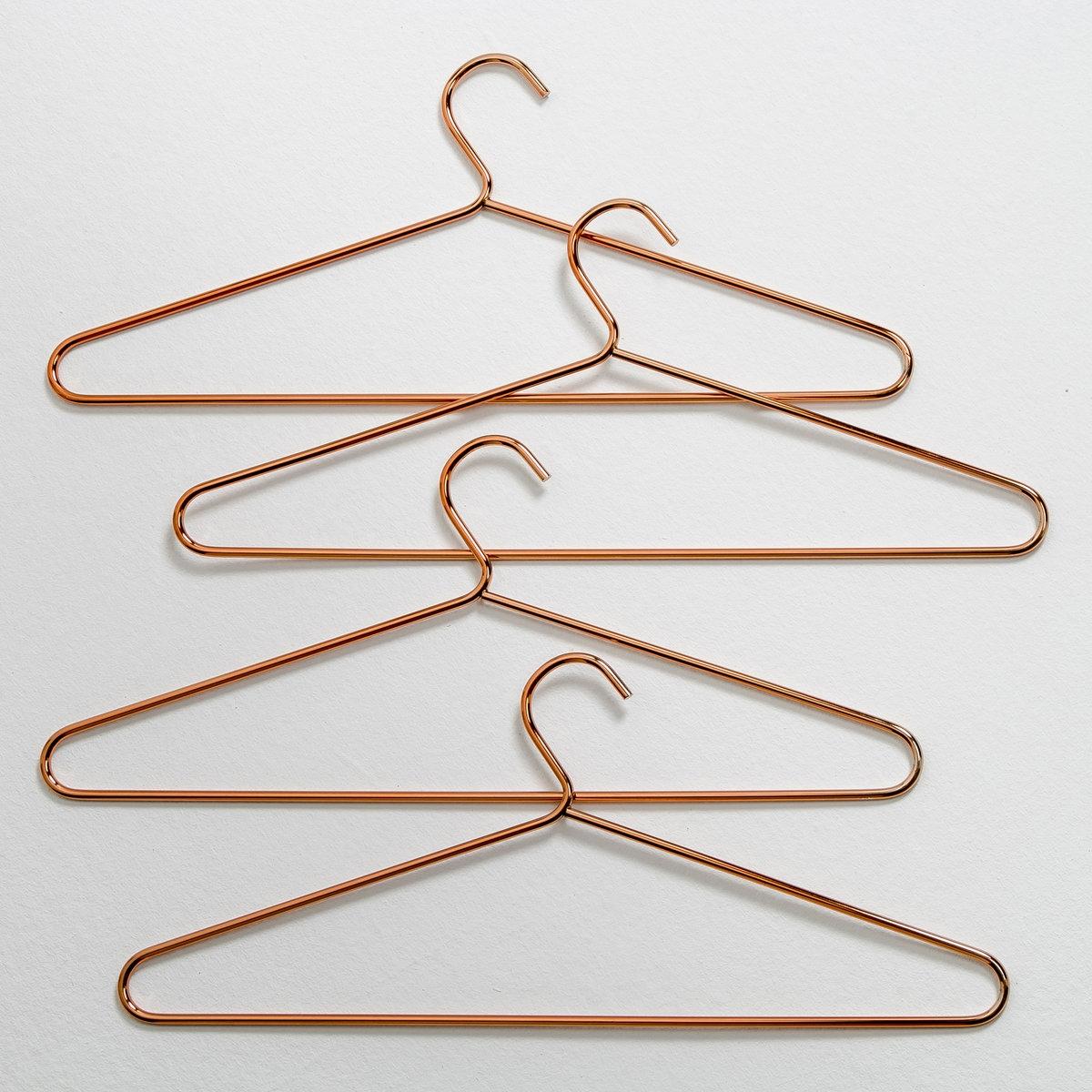 Комплект из 4 металлических плечиков медного цвета для одежды, ELORI бра настенное из металла elori