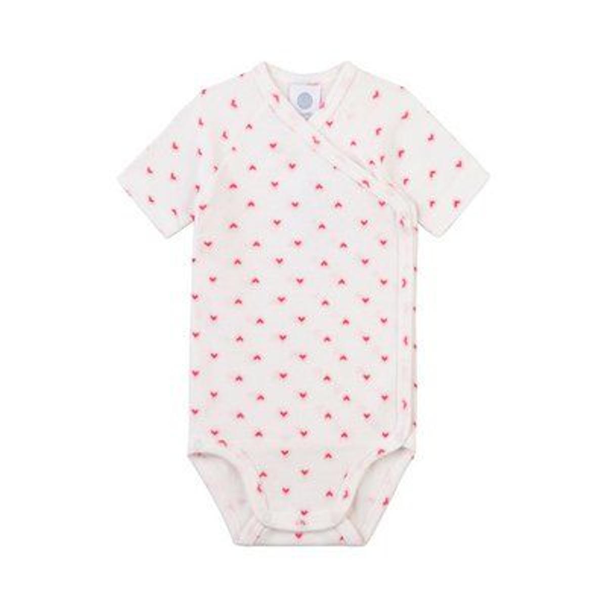 Sanetta Body portefeuille à manches courtes coeurs bébé