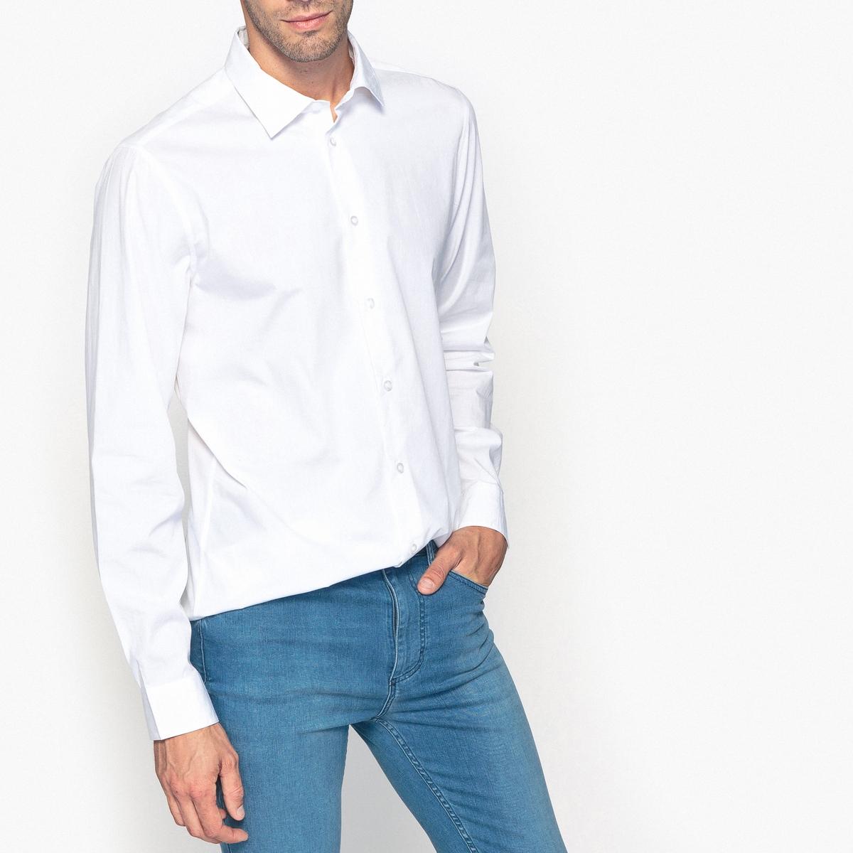 Рубашка узкого покроя, 100% хлопокОписание •  Длинные рукава  •  Приталенный покрой  •  Итальянский воротник Состав и уход •  100% хлопок  •  Машинная стирка при 40 °С  • Средняя температура глажки / не отбеливать     • Барабанная сушка в умеренном режиме       • Сухая чистка запрещена<br><br>Цвет: белый,небесно-голубой,серый,темно-синий<br>Размер: 41/42.43/44.45/46.39/40.41/42.43/44.39/40.41/42.43/44.45/46