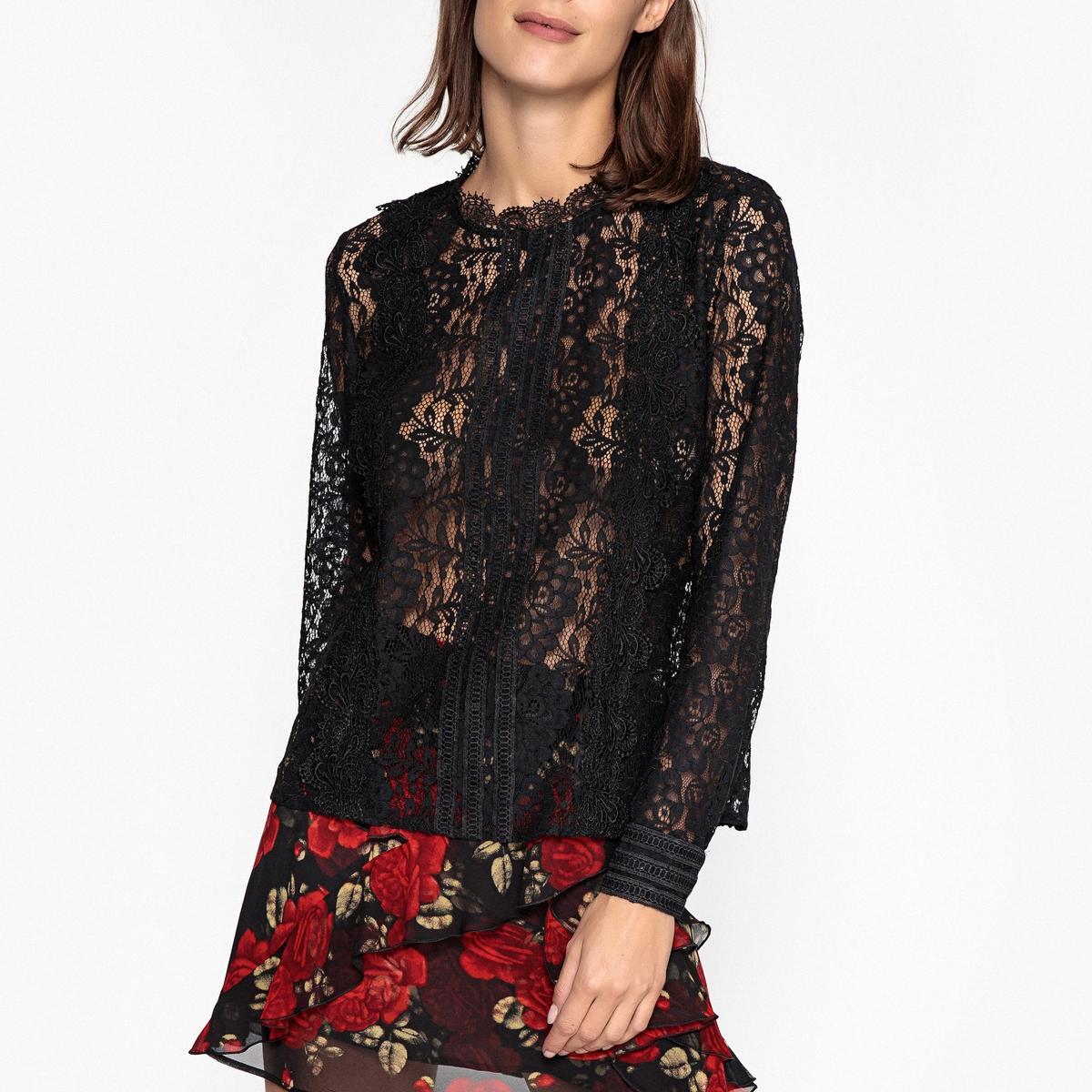 Блузка с длинными рукавами из кружева BETINA цена 2017