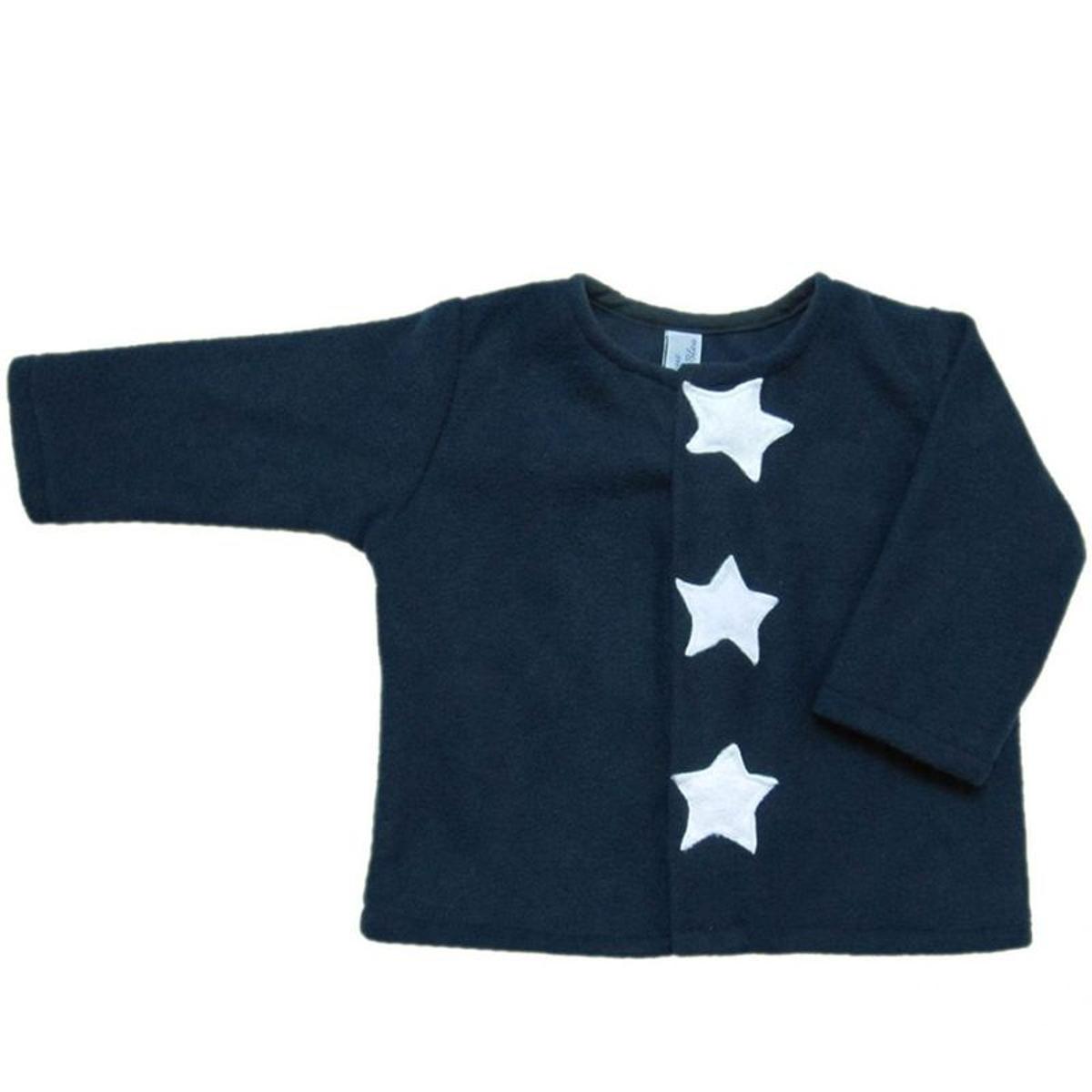 Gilet cardigan chaud étoiles appliquées 0 mois-2 ans Made in France
