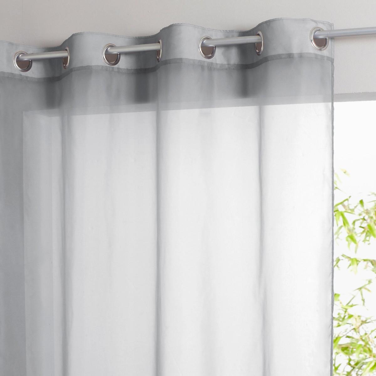 Занавеска LaRedoute С люверсами Limpo 180 x 140 см серый