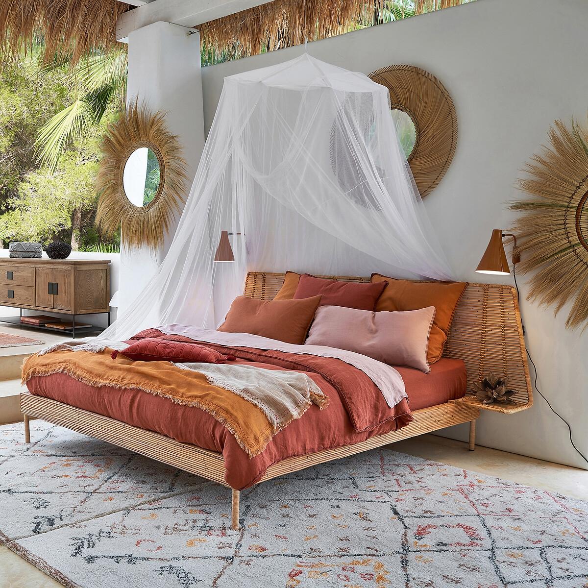 Кровать LaRedoute Из ротангового тростника Saghil 160 x 200 см бежевый
