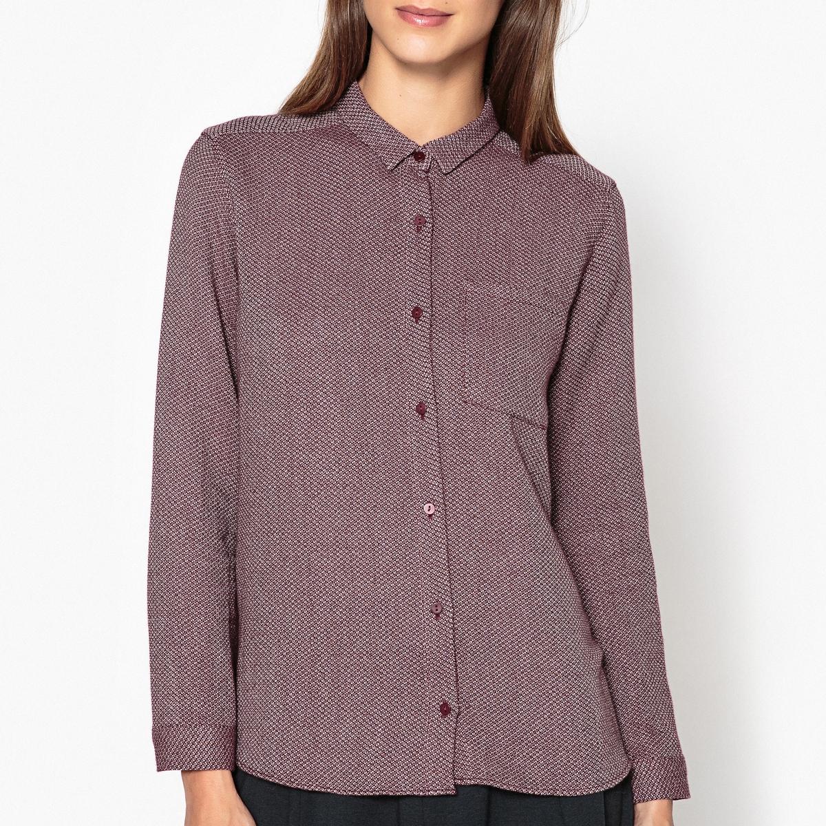 Рубашка из 100% хлопка CASILEРубашка с длинными рукавами HARRIS WILSON - модель CASILDE из жаккардовой двухцветной ткани из 100% хлопка.Описание •  Длинные рукава  •  Прямой покрой  •  Воротник-поло, рубашечный Состав и уход •  100% хлопок  •  Следуйте рекомендациям по уходу, указанным на этикетке изделия   •  Карман на груди •  Манжеты на пуговицах •  Низ слегка закругленный •  Складки сзади.Характеристики<br><br>Цвет: синий/ белый,сливовый