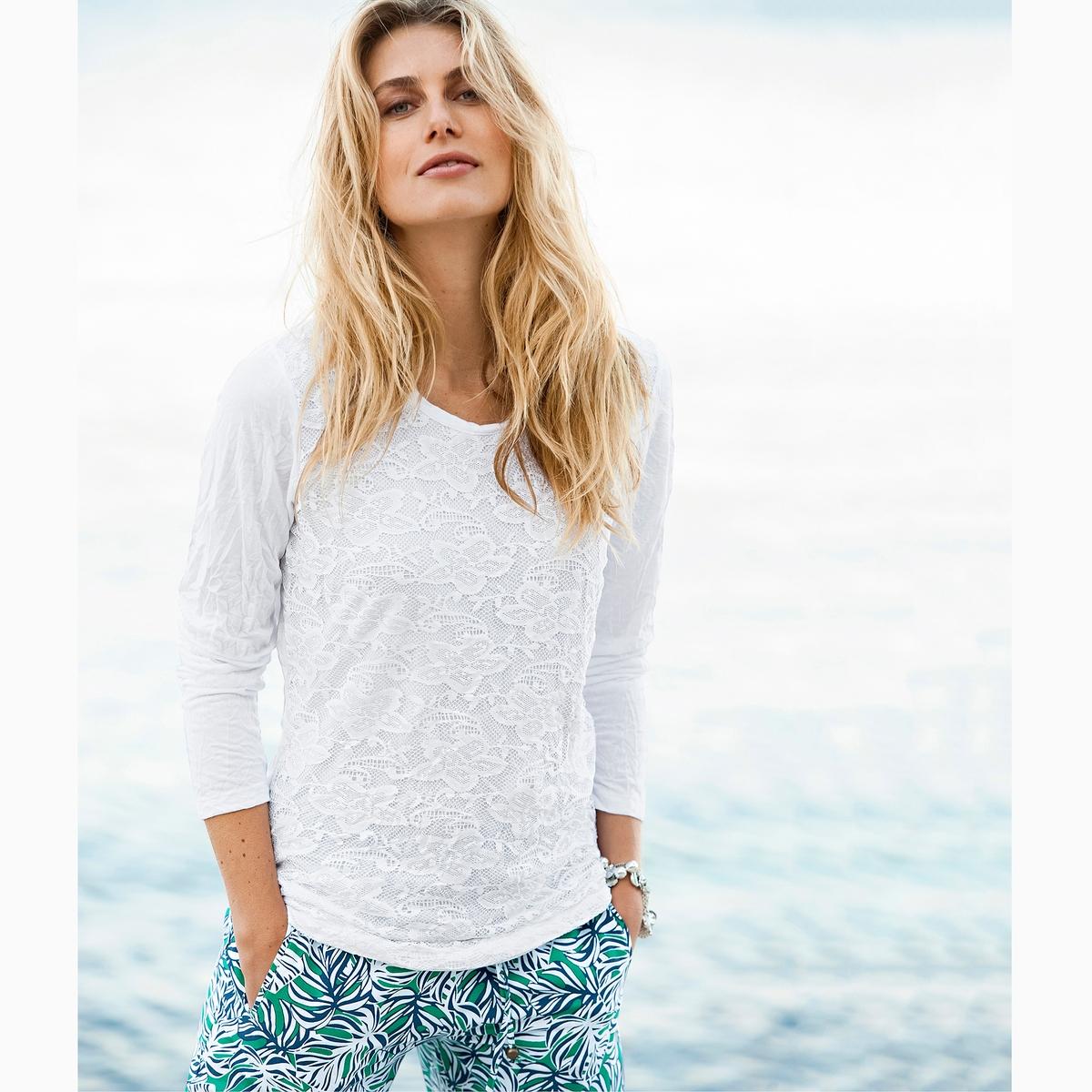 Imagen principal de producto de Camiseta, punto arrugado y encaje - Anne weyburn