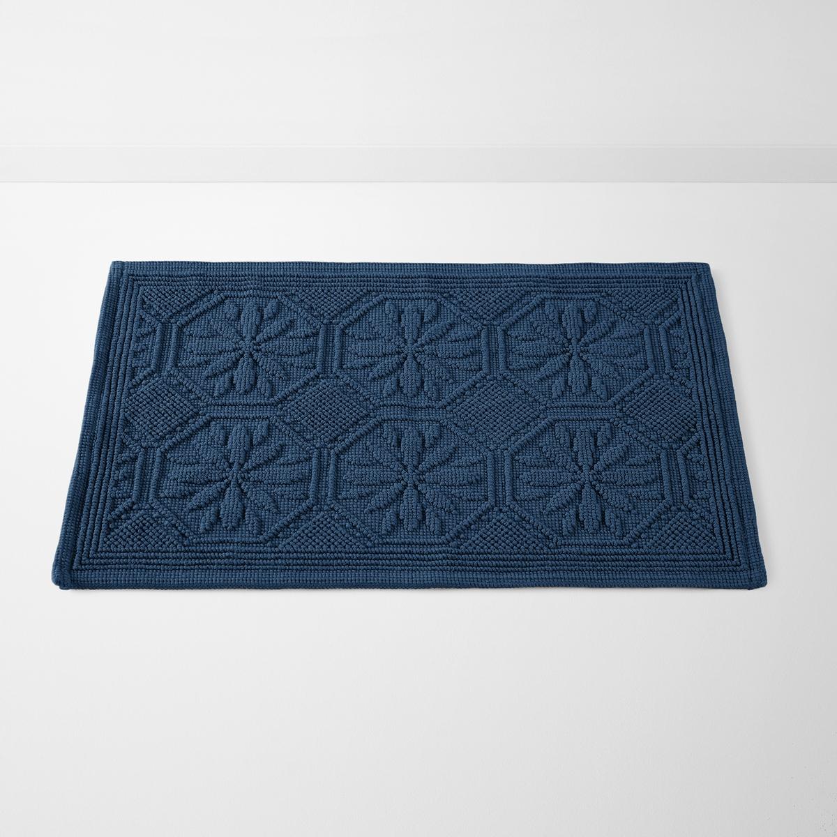 Коврик La Redoute Для ванной хлопок SALERNES 50 x 70 см синий коврик для ванной доляна собака 3105610 бежевый 50 х 70 см