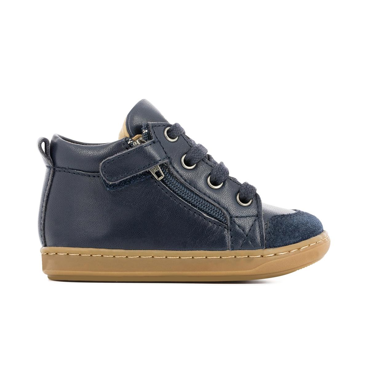 Кеды высокие кожаные BOUBA BI ZIPДетали  •  Кеды высокие •  Спортивный стиль •  Плоский каблук •  Высота каблука : 0 см •  Застежка : шнуровкаСостав и уход  •  Верх 100% яловичная кожа •  Подкладка 100% кожа •  Стелька 100% кожа •  Подошва 100% каучук<br><br>Цвет: темно-синий