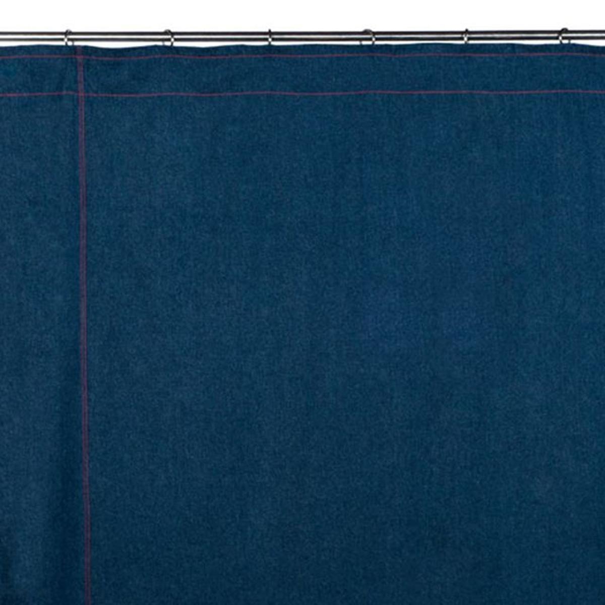 Rideau à ruban fronceur Coton DENIM Bleu moyen