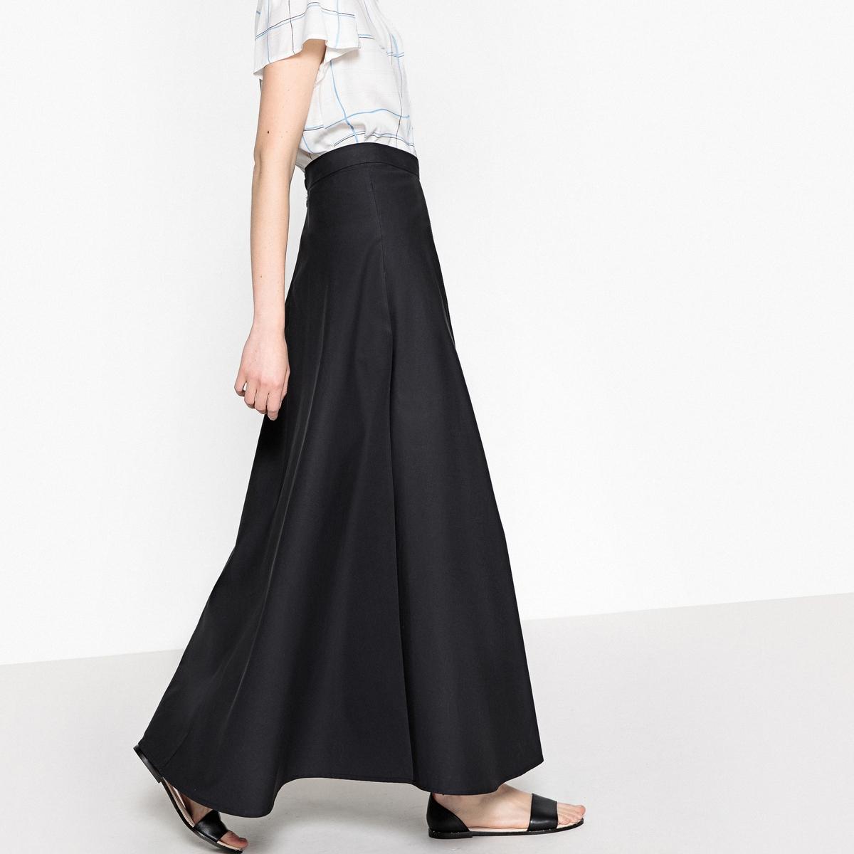 Falda larga de popelina 100% algodón