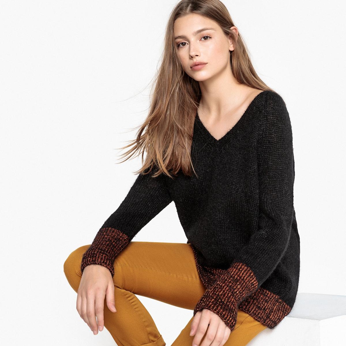 Пуловер с V-образным вырезом V MEVIL пуловер с v образным вырезом