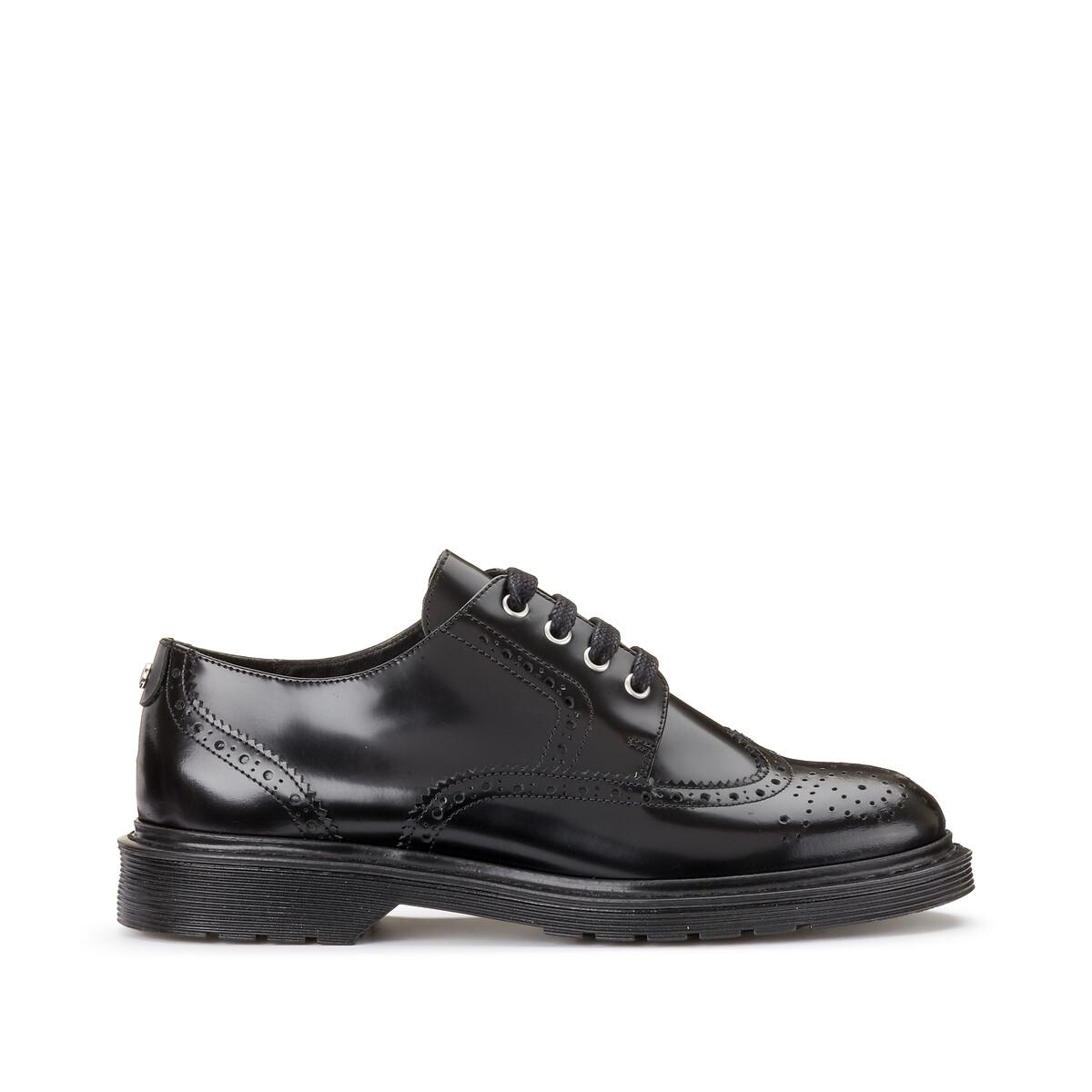 Ботинки-дерби LaRedoute Из кожи Vocilia 38 черный ботинки дерби из кожи teadale maira