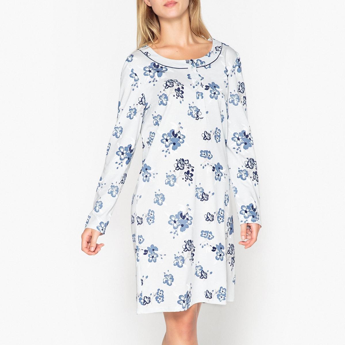 Bawełniana, wzorzysta koszula nocna