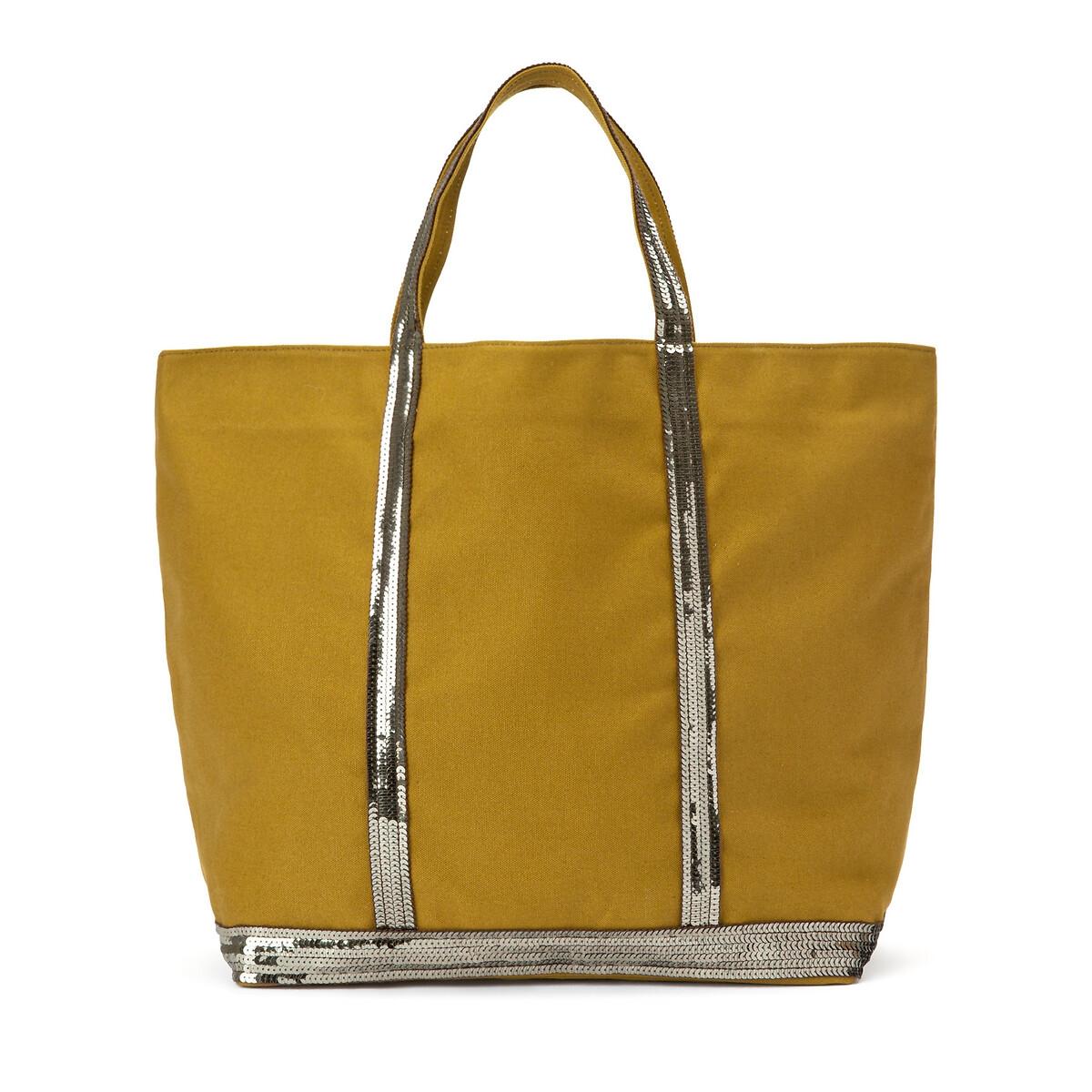 Фото - Сумка-шоппер La Redoute Из ткани с блестками единый размер желтый сумка шоппер средняя из парусины с блестками