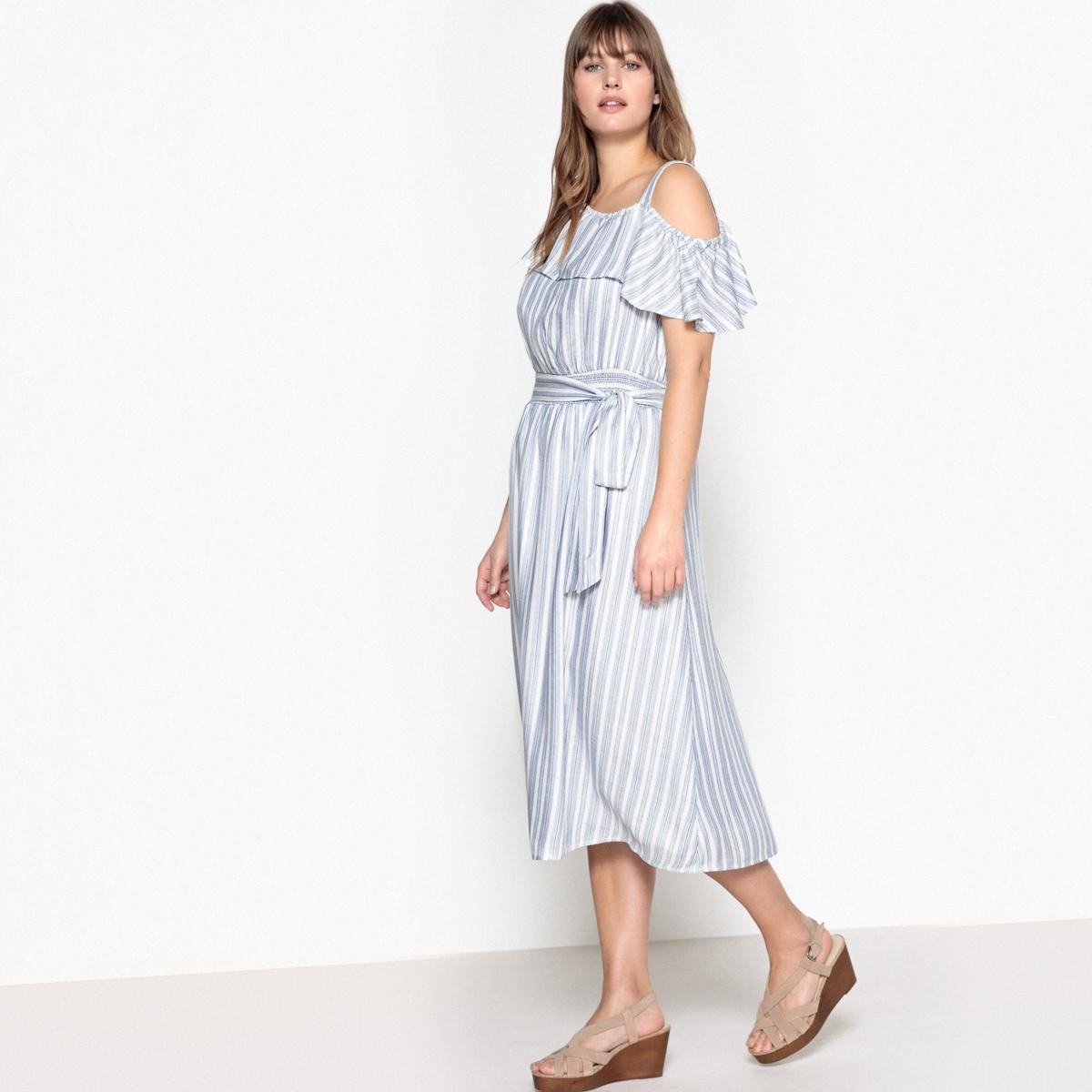 Платье с воланами на груди от La Redoute
