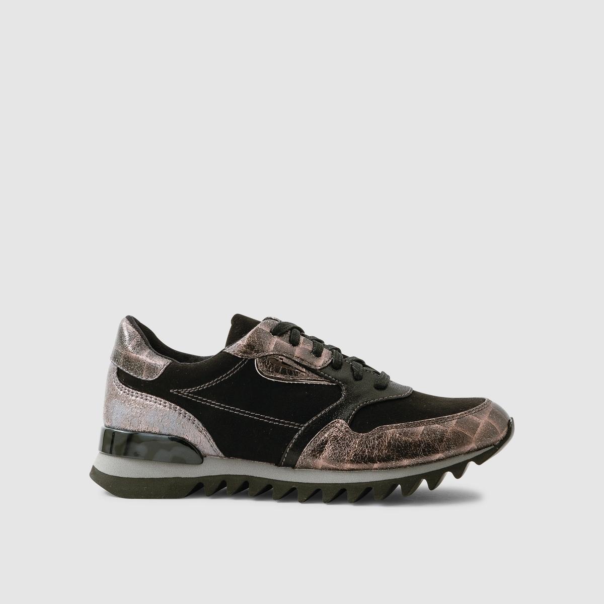 Кеды низкиеПодкладка : текстиль   Стелька : синтетика   Подошва : синтетика   Высота каблука : 2,5 см   Марка : TAMARIS<br><br>Цвет: черный