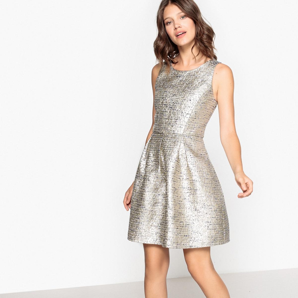 Платье-миди, длина 3/4, без рукавов