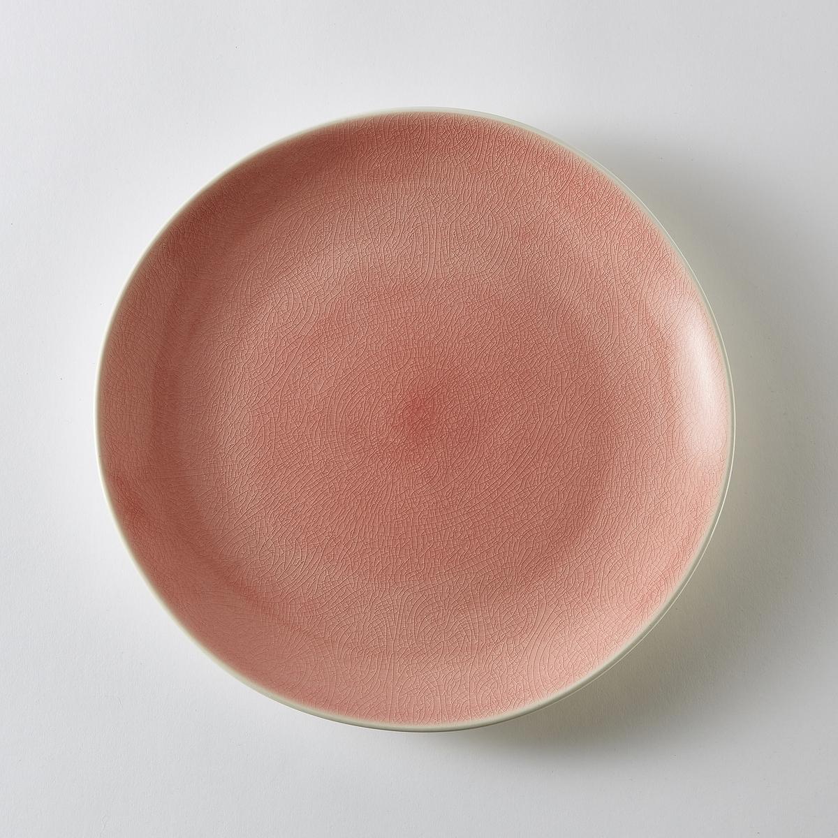 Комплект из 4 мелких тарелок из фаянса GogainХарактеристики 4 мелких тарелок из фаянса Gogain    :- Фаянс с матовой отделкой снаружи, внутри - с отделкой контрастными кракелюрами .- Диаметр 27 см  .- Можно использовать в посудомоечных машинах и микроволновых печах.Всю коллекцию посуды Gogain вы можете найти на сайте laredoute.ru<br><br>Цвет: зеленый,серо-синий,темно-розовый