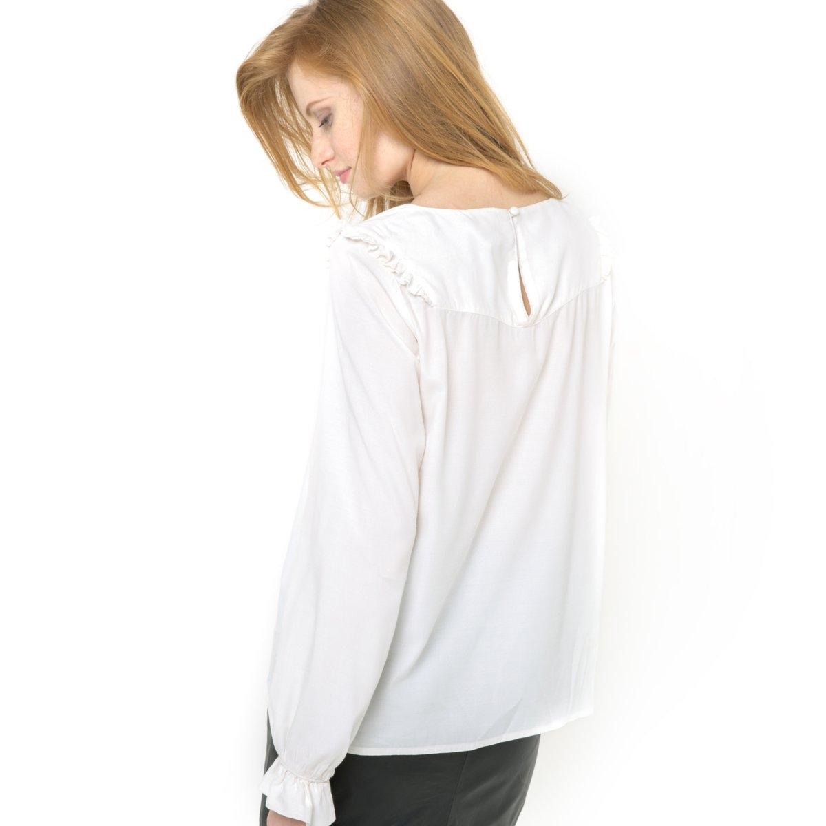 цены на Блузка с воланами и длинными рукавами в интернет-магазинах