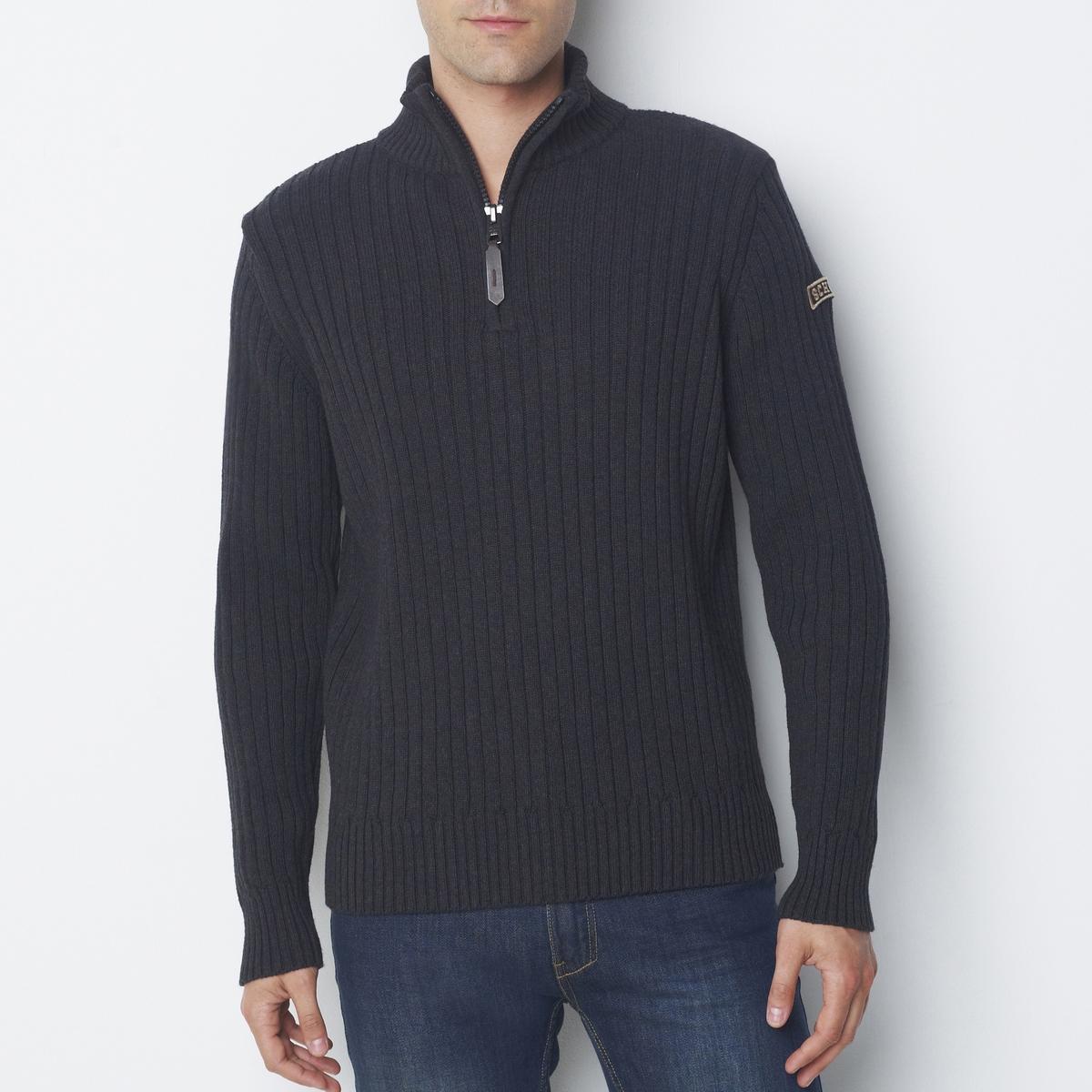 Пуловер La Redoute С воротником-стойкой из тонкого трикотажа 3XL серый jd коллекция серый цвет серый 3xl