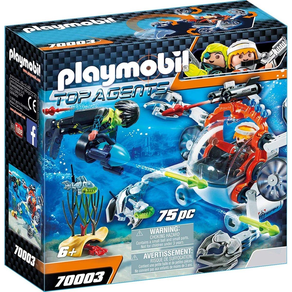 PLAYMOBIL 70003 Top Agents - Robot sous-marin Spy Team