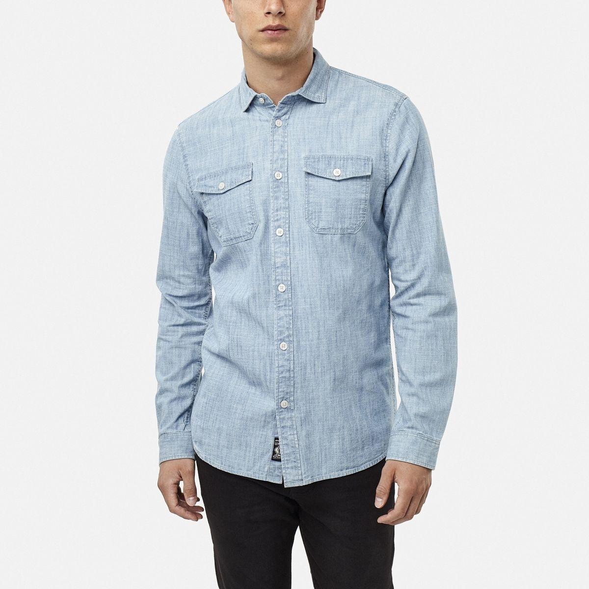 Chemises manches longues Jack's Chambray Chemises manches longues