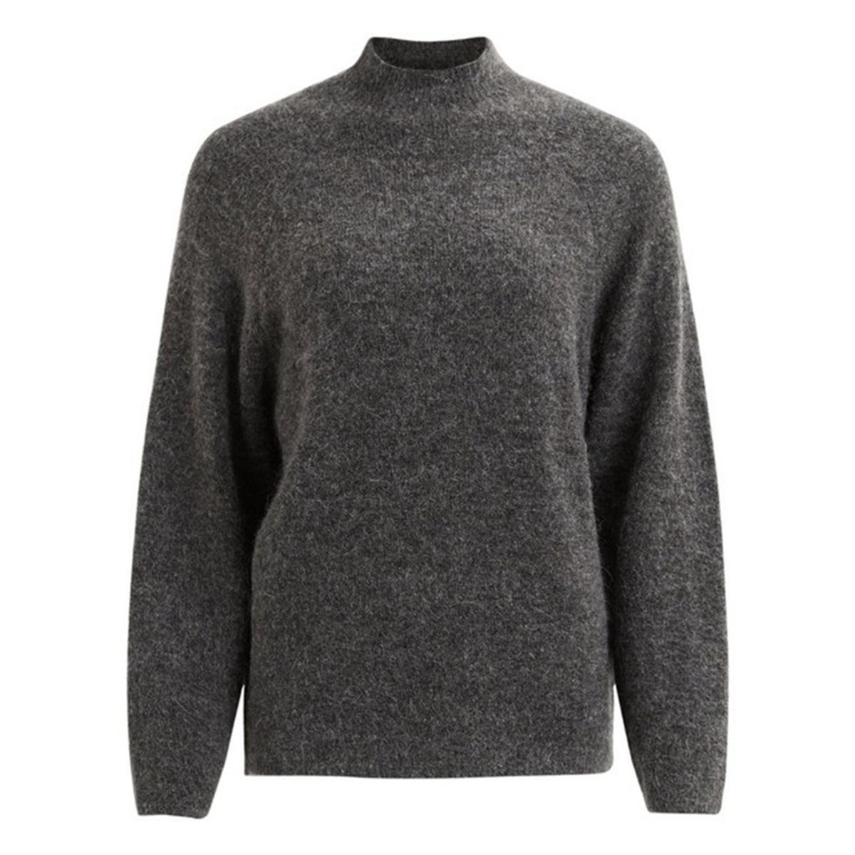 Пуловер из тонкого трикотажаОписание:Детали •  Длинные рукава •  Воротник-стойка •  Тонкий трикотажСостав и уход •  63% акрила, 3% эластана, 10% мохера, 11% полиамида, 13% полиэстера  •  Следуйте советам по уходу, указанным на этикетке<br><br>Цвет: темно-серый
