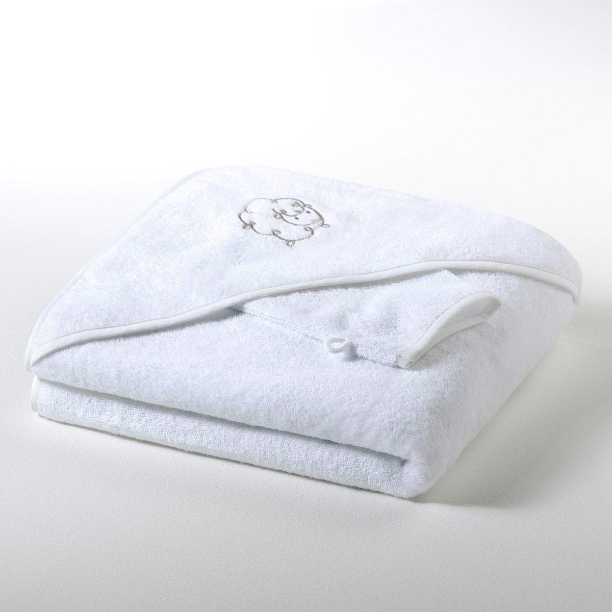 Банное пончо и рукавица из махровой ткани 420 г/м² для девочек и мальчиков, Betsie от La Redoute