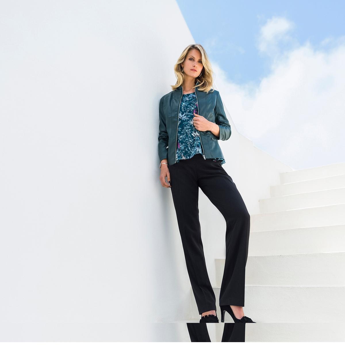 Imagen adicional 2 de producto de Pantalón urbano recto de poliviscosa de elastán - Anne weyburn